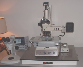 Stereoscope(left) and MM-60 microscope (right)